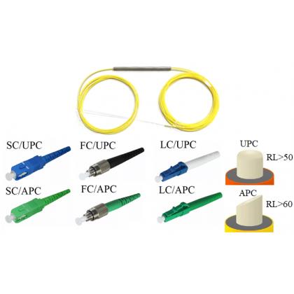 FBT-OM Оптический разветвитель 1х2, модель 01, 1310/1550 нм, 50/50%, 0,9 мм, 1 метр, LC/UPC
