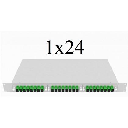 PLC Оптический сплиттер 1х24, модель 04, 1260/1650 нм, 900 мкм, 1 метр, SC/APC