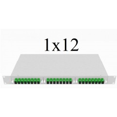 PLC Оптический разветвитель 1х12, модель 04, 1260/1650 нм, 900 мкм, 1 метр, SC/APC