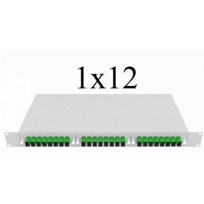 PLC Оптический сплиттер 1х12, модель 04, 1260/1650 нм, 900 мкм, 1 метр, SC/APC