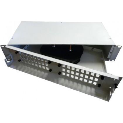 """Оптическая кроссовая панель в стойку 19"""" со съемными планками ККО-350/3U на 64 порта, 483х250х132 мм"""