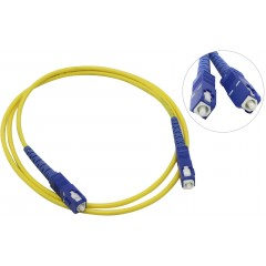 Оптический патчкорд, шнур оптический соединительный SC-SC/UPC, ОМ, симплекс, 3 мм, 3 м