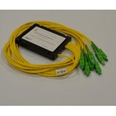 PLC разветвитель 1х8, 3 мм, длина плеч 1 м, коннекторы на выбор