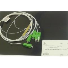 PLC разветвитель 1х4, 900 мкм, SC/APC, 1м