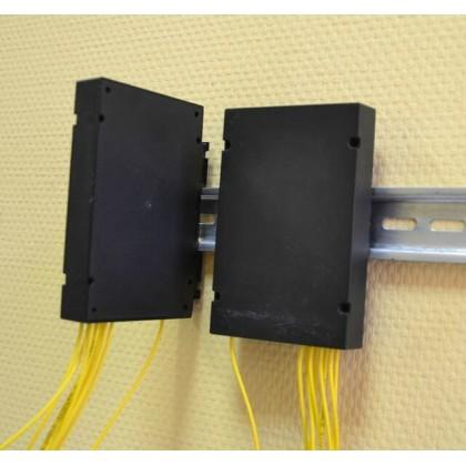 Оптический разветвитель в корпусе с креплением под DIN рейку