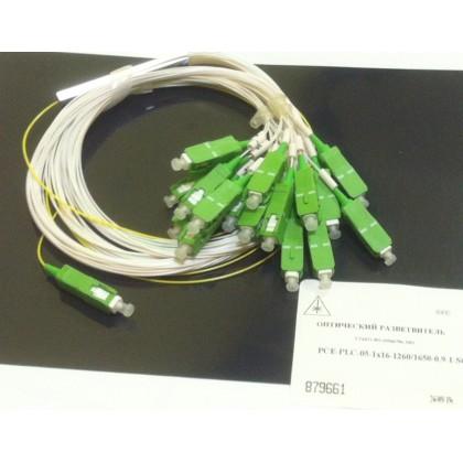 PLC разветвитель 1х32, 900 мкм, 1м, коннекторы на выбор
