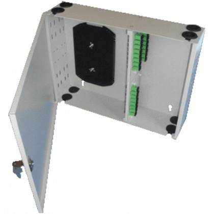 Настенная кроссовая коробка ККО-520/32 SC,FC,ST,LC duplex (360х360х90)
