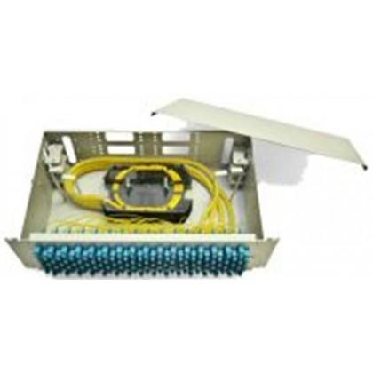 """Универсальная стоечная коробка со съемными панелями 19"""" ККО-300/3U, 64 (SC, FC, ST), 128 (LC), ОМ/ММ"""