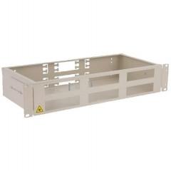 """Универсальная стоечная коробка со съемными панелями 19"""" ККО-300/2U на 48портов, (430х255х88мм)"""