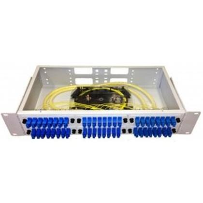 """Оптическая кроссовая панель в стойку 19"""" со съемными планками ККО-300/2U, 48 (SC, FC, ST), 96 (LC)"""