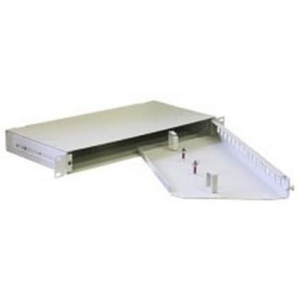 """Универсальная стоечная коробка со съемными панелями 19"""" ККО-350/1U на 8 портов, 483х250х44мм"""