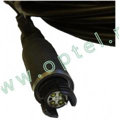 Полевой кабель с линзовыми гермафродитными герморазьёмами
